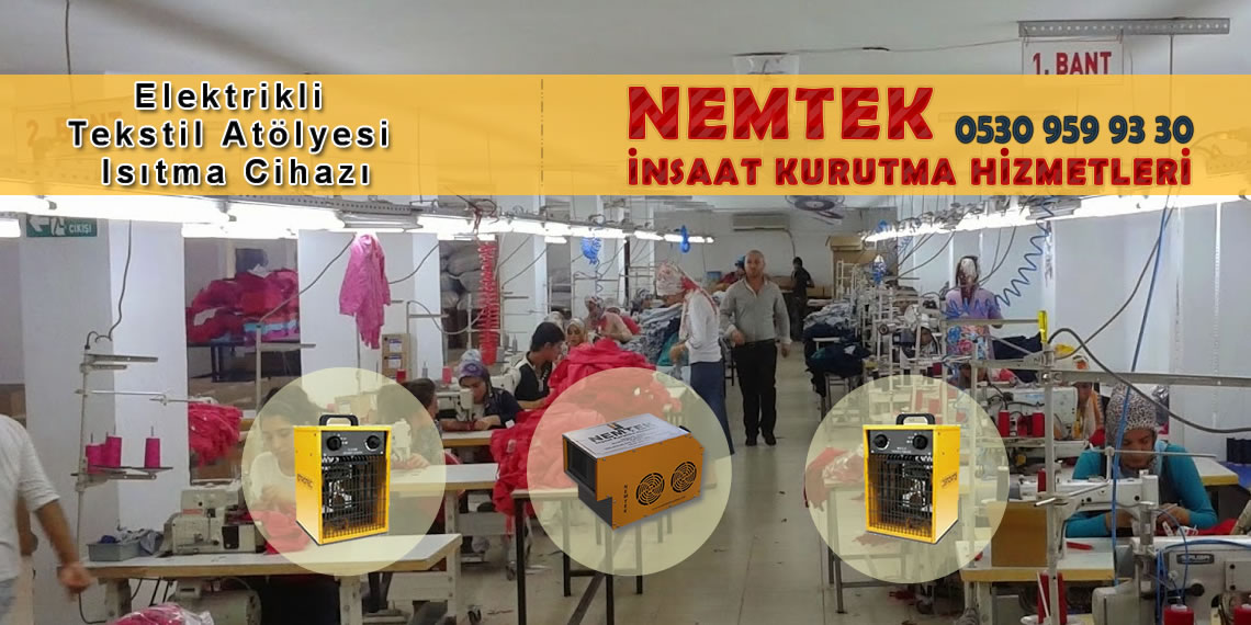 Elektrikli Tekstil Atölyesi Isıtma Cihazı